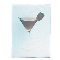 Shaken , but not stirred Cosmopolitan Cocktail Drink Largeコットンティータオルby半分A Donkey