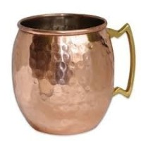 Moscow Mule Mugs - Nozdrovia - - 100% Solid Copper, 16 oz Capacity, Hammered Finish, Classic by...