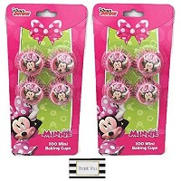 Minnie Mouse Mini Baking Cups - Two Packs of 100 by The Best Brand