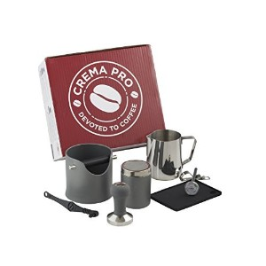 Crema Pro Barista Kit – Make The Perfectコーヒーまたはエスプレッソ – コーヒーAccessories – Easy & Quick Clean Up グレー