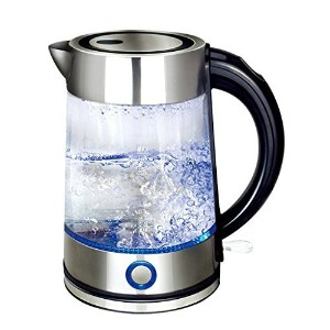 Panesor 1.7 Liter Electric Glass Kettle Cordless with Blue LED Illumination Hot Water Tea Electric...