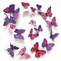12PCS 3D PVC Magnet Butterflies DIY Wall Sticker Home Decor New Arrival Butterflies Wall Decor...