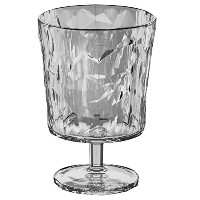Koziol Crystal 2.0 Footed Goblet or Wine Glass, Small, Transparent Clear [並行輸入品]