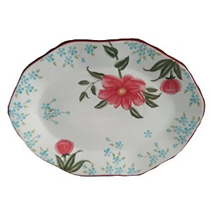 "LGスタイリッシュな19 1 / 4 "" x13.3 / 4 "" Large Oval充電器プレート、Serving Platter"