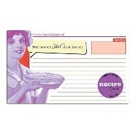 """48"""" Best Servedホット。。。Just like me」レシピカード&パープルレシピカードポーチwith Dividers"""