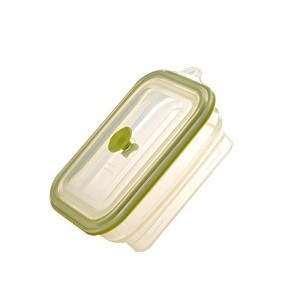 Longda Silicone Collapsible Lunch Box, Foldable Food Container with Sealed Lid, Leak proof,...