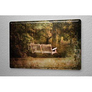 Tin Sign Nostalgic Swing bench