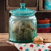 The Pioneer Woman Adeline Glass Cookie Jar - Turquoise by The Pioneer Woman