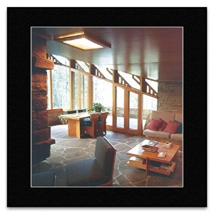 Frank Lloyd Wright - Seth Peterson Cottage Winsconsin 1958 Mini Poster - 40x40cm
