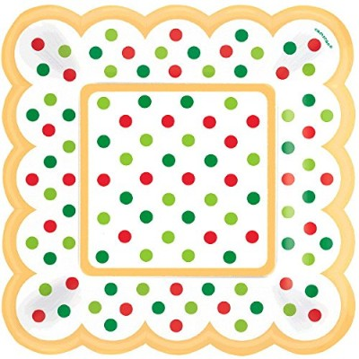 AMSCAN Christmas, Party Paper Square Plates