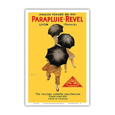 parapluie-revel – The Very Best傘製造元 – Established 1851 – ヴィンテージ広告ポスターby Leonetto Cappiello c.1922 –...