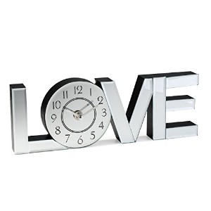 Love Word Art Wall Clock - Home Decor [並行輸入品]