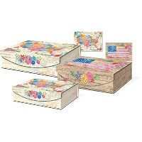 Punch Studio Large Nesting Flip Top Boxes - America The Beautiful by Punch Studio