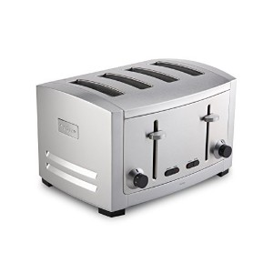 All-Clad TJ804D Stainless Steel 4-Slice Toaster with 6 Browning Control Settings / Frozen Bread...