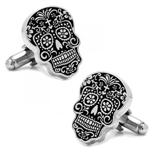 シルバーDay of the Dead Cufflinks