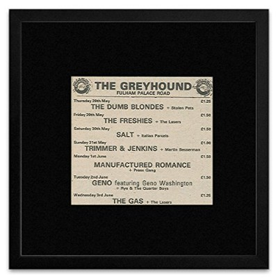 The Freshies Manufactured Romance The Gas - The Greyhound May-June 1981 Gigs Framed Mini Poster -...