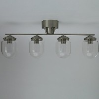 GLASS DOME CEILING LIGHT 4灯 シルバー