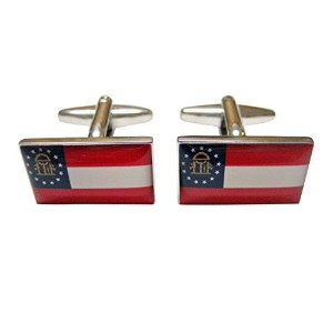 Georgia State Flag Cufflinks