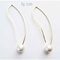 バイボー【by boe】NY発 セレブ愛用 Mini Wave Threader Pearl Earrings E496miniGOLD/ピアス/ニューヨーク