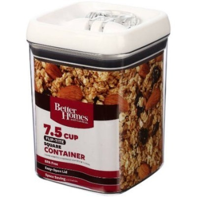 (2) - Better Homes and Gardens Flip-Tite 7.5 Cup Square Container (2 Packs)