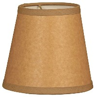 High Qualityrchment Empire Brown Chandelier Lamp Shade, 3 x 5 x 4.5 (CS-952-5BR/P)