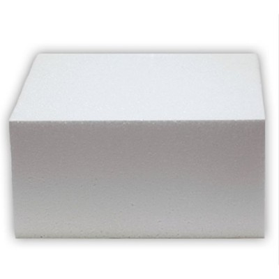 Oasis Supply 747116 Dummy Square Cake, 16 x 16 x 3, White by Oasis Supply