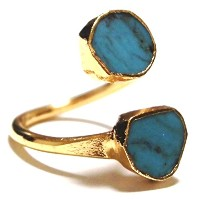 LUXDIVINE ターコイズリング 約16号~17号 Turquoise Wrap Ring 19plus