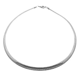 EDFORCE Stainless Steel Silver-Tone Classic Choker Necklace