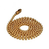 PF : 24inch necklace gold plated stainless steel bead chain for diy pendant accessories