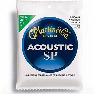 Martin アコースティックギター弦 SP ACOUSTIC (92/8 Phospher Bronze) MSP-4600 Extra Light-12Strings .010-.047