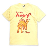 SCOPY (スコーピー) ネコ好き のための 猫柄 Tシャツ Are you angry? クリーム XL