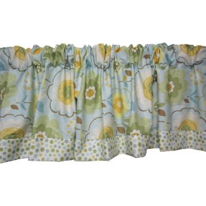 Baby Doll Bedding Botanic Garden Valance, Green by BabyDoll Bedding