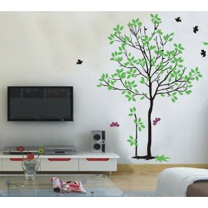 Pop Decors Removable Vinyl Art Wall Decals Mural for Nursery Room, Spring Tree by Pop Decors