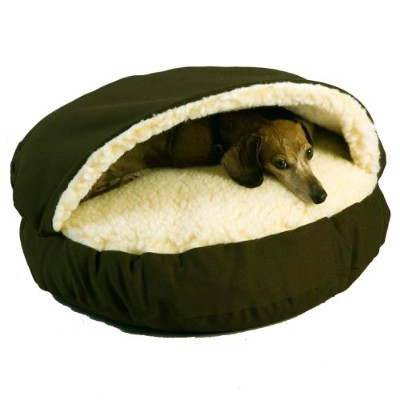 Snoozer Cozy Cave, Olive, Large by Snoozer