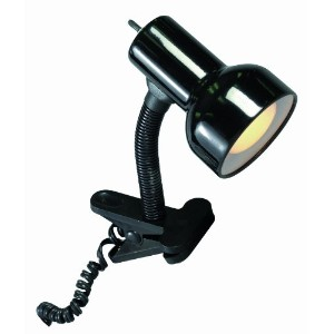 Satco Products SF76/226 Flexible Goose Neck Clip on Lamp with Coiled Cord, Black by Satco