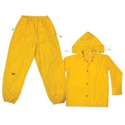 3-Piece Polyester 0.18MM Rain Suit-MED 3PC YEL RAIN SUIT (並行輸入品)