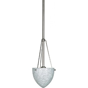 Nuvo 60/138 Mini Pendant With Hang-Straight Canopy With Water Spot Glass, Brushed Nickel by Nuvo