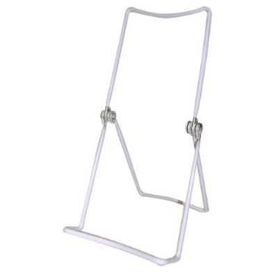 Metal Wire Easels White Vinyl Coated Display Plate Stand Holder Hinged Adjustable Multi Position -...