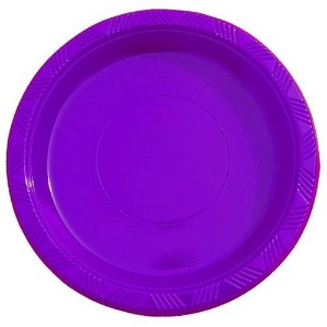 9 Purple plastic plates (50) by Exquisite