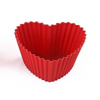 Silikomart Silicone Wonder Cakes Collection Heart Cupcake Liners, Set of 6 by Silikomart