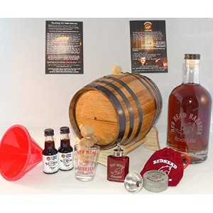 2 Liter charred American Oak whiskey Barrel Bootleg Gift Set w/ Kentucky Bourbon Essence for making...