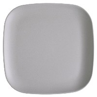 Bamboozle 9.5-inch Lunch Plates, Dove Grey, Set of 4 by Bamboozle