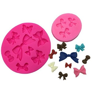 Okallo Products Set of 2 Bow Molds for Candy Cake Decorations - Silicone Ribbon Mold by Okallo...