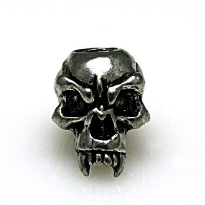 Schmuckatelli CO Fang Skull Bead, Pewter, by Schmuckatelli