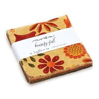 Beauty Fall Charm Pack By Sandy Gervais; 42 - 5 Precut Fabric Quilt Squares by moda