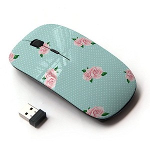 KOOLmouse [ ワイヤレスマウス 2.4Ghz無線光学式マウス ] [ Pink Baby Blue Roses ]
