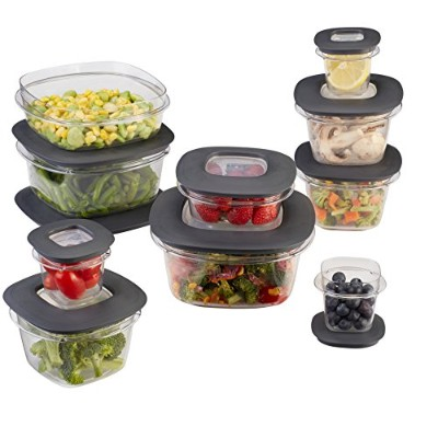 Rubbermaid Premier Food Storage Containers, 20-Piece Set, Grey by Rubbermaid