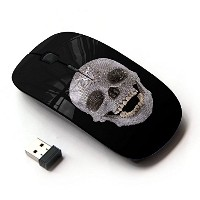 KOOLmouse [ ワイヤレスマウス 2.4Ghz 無線光学式マウス ] [ Skull Crystal Ancient Art Archeology Head Teeth ]