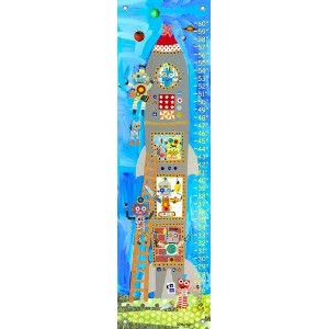 Oopsy daisy Rocket Robots Growth Chart by Megan and Mendy Winborg, 12 by 42 Inches by Oopsy Daisy