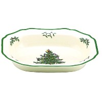 Spode Christmas Tree Open Vegetable Dish by Spode